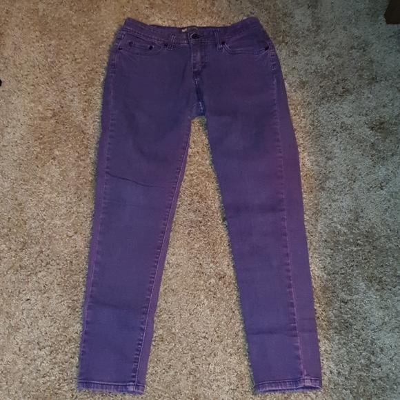 Ladies Purple Acid Washed Levis 535 Jeggings sz 9